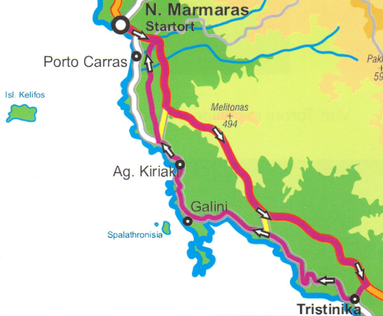 coastal tour in the south of the sithonia peninsula
