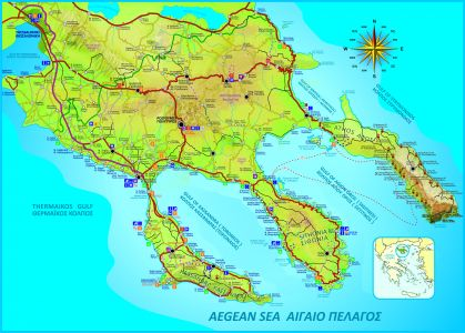 sithonia griechenland karte Landkarte Chalkidiki, Sithonia Strände, Berg Athos